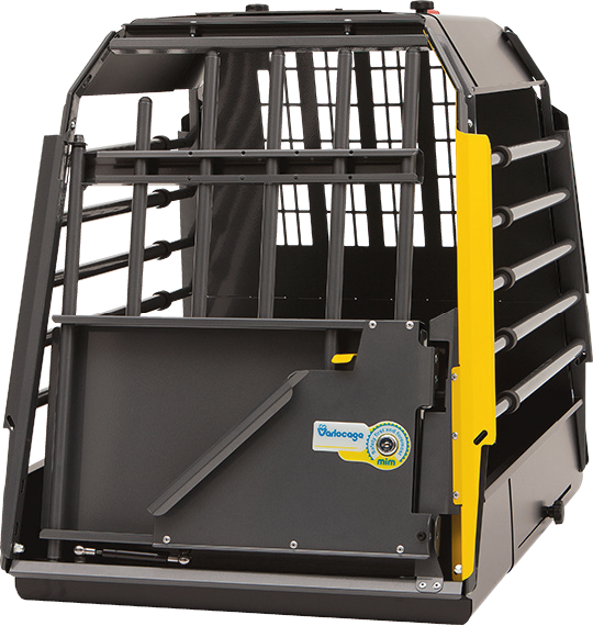 Dog Car Crate Front View
